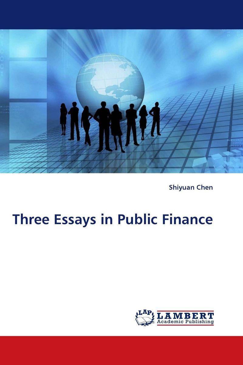 three essays on economics
